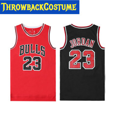 YOUTH KIDS Throwback Swingman Jordan 23 Classic Basketball Jersey Red Black $25.99