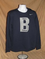 BUTLER BULLDOGS NEW NIKE CLUB FLEECE CREW SWEATSHIRT LARGE MENS