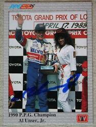 Indy 500 Champion Al Unser Jr. signed autographed 1991 A amp; S Racing card # 100 $6.99