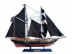 Assembled Detailed Wooden Model Pirate Ship with Black Sails ~ Black Prince 24