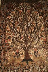Carpet from the East to the tree life wool and silk entirely realized handmade
