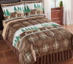 Bear Country Comforter Set Northwoods Lodge Country Cabin Bedding Bed Decor