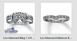 $16299 LEO DIAMOND WEDDING RING ENSEM $2899.95 1.7CT + TWO .5 CT Enhancers