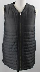 Lululemon Everything She Wants Reversible Full Zip Vest WOMENS SMALL Black