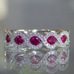 Gorgeous 925 Silver Rings Jewelry Oval Ruby Cut Women Wedding Rings Size 6-10