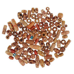 100pcsset Jewelry Making Floral Wooden Mixed European Beads For Crafts Kid Gift