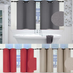 1 SET 100% BLACKOUT INSULATE THERMAL SHORT PANELS WINDOW CURTAIN IN 36quot; 54quot; 63quot;L $16.00