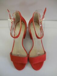Kenneth Cole New York Women's Hannon Block Heeled Sandal Ankle Strap Us size 7 M