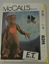 Vintage McCall's Sewing Pattern 8311 E.T.  Out of Print 1982. Sz Child M