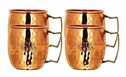 Taluka Hand Crafted Pure Copper Moscow Mule Beer Mug Brass Handle Beer Mug