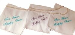 Wedding Handkerchief For Your Happy Tears Scallopped edge by Wedding Tokens P