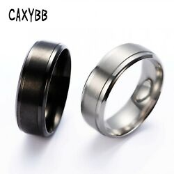 Mens Rings 8 MM Wedding Band Pure Carbide Tungsten Engagement Ring Jewelry $9.00