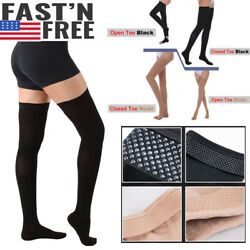 30-40mmHg Medical Compression Stockings Thigh High Support Prevent Varicose Vein