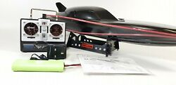 BLACK STEALTH LARGE RC RACING SPEED BOAT RADIO REMOTE CONTROL BOAT TWIN MOTOR GBP 51.99