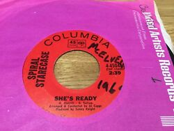 SPIRAL STARECASE ~ SHE'S READY ~ Columbia 4-45048- GREAT POPPIES COVER -DANCER