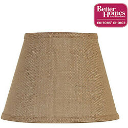 Burlap Accent Lamp Shade Modern Lighting Uno Fitte Living Bedroom Home Decor $24.53