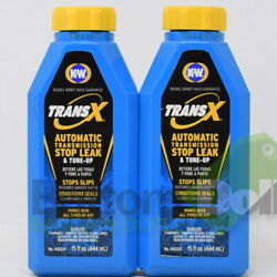 K&W Trans-X Automatic Transmission Stop Leak & Tune-Up 15Fl Oz 402015 (2 Pack)