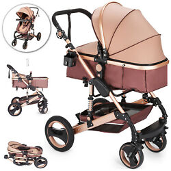 2 in 1 Foldable Baby Kids Travel Stroller Newborn Infant Pushchair Buggy