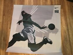 Vintage Rare Nike Lebron James Vinyl Lakers Promo Light Box Poster Exclusive 11
