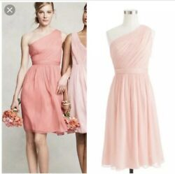 J Crew Silk Chiffon Kylie Dress Pink Bridesmaid Size 8