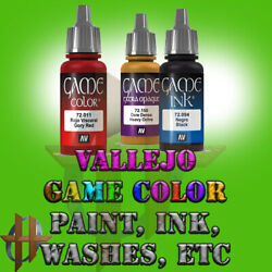 Vallejo Game Color Acrylic Paint Miniatures 128 Different Colors Washes Ink etc