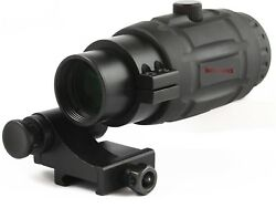 Vector Optics Tactical 3X Magnifier Scope for Red Dot Sights Flip to Side Mount $84.99