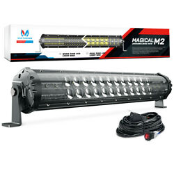 MICTUNING M2 19inch 108w LED Light Bar Pod Dual Row OffRoad Driving Lamp 8460lm $35.99