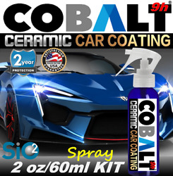 CERAMIC CAR COATING PROFESSIONAL PAINT PROTECTION TRUE NANO 9H WET LOOK KIT
