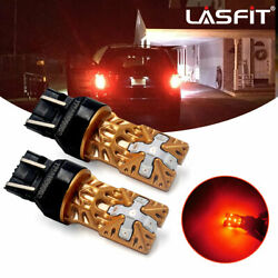 LASFIT 7443 7444 7440 7441 LED Bulbs Brake Stop Light Lamp Red Super Bright 2pcs $15.99