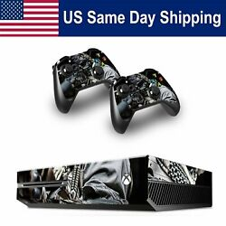 Stickers Vinyl Skin for Xbox One Console & Controller Full Set Cover Decals