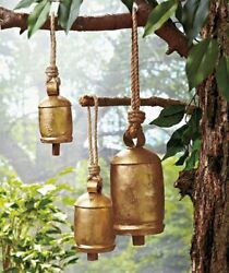 Set of 3 Hanging Harmony Bells Garden Rustic Relaxing Tranquil Wind Chimes $25.99
