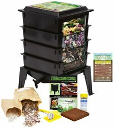 Worm Factory 360 Farm Compost Vermicompost Bin Kit BONUS Infographic Magnet $169.95