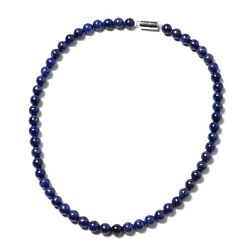 925 Sterling Silver Lapis Lazuli Beads Necklace Jewelry for Women Jewerly 18
