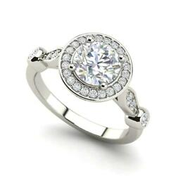 Halo 3.6 Carat VS2D Round Cut Diamond Engagement Ring White Gold
