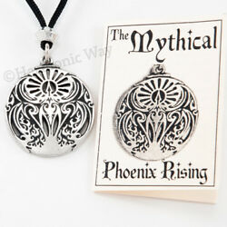 PHOENIX RISING Pendant Necklace MYTHICAL FIRE BIRD FROM ASHES TALISMAN $19.99
