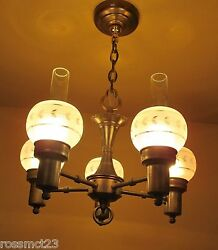 Vintage Lighting 1930s Colonial style chandelier $900.00