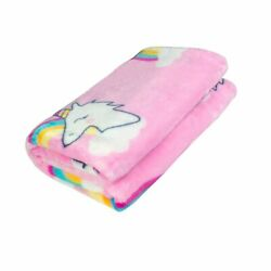 Ghome Soft Baby Blanket and Unicorn Fuzzy BlanketMade of 300GSM Flannel Str...