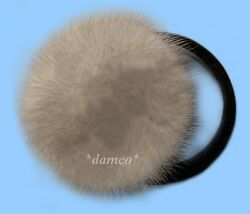 NEW GENUINE SAPPHIRE MINK FUR EARMUFFS one fits all $35.95