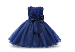 Blue Girl#x27;s Lace Chiffon Gown Children Girls Party Dresses $35.00