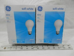 8 NEW GE 60 watt Incandescent Light Bulb A19 Soft Warm White 2800K Dimmable $14.90