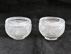 Antique Crystal Hand cut glass candle holder REPLACEMENT PIECES EPERGNE $29.99