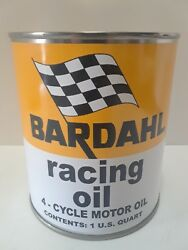 Bardahl Motor Oil Vintage Can 1 qt. Reproduction Tin Collectible Racing Oil $9.99