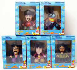 SET OF 5 BEATLES & MEANIE YELLOW SUBMARINE 4.5