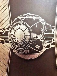 Star Wars Wall Art canvas Tie Fighter Black Silver Home Decor NEW $23.98