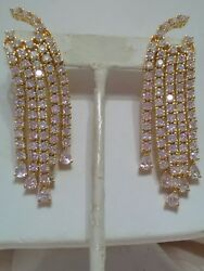 Artisan Crafted Hand Made in IndiaGold Tone Waterfall Earrings