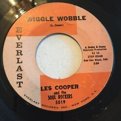 LES COOPER AND THE SOUL ROCKERS WIGGLE WOBBLE 45 RECORD 1962