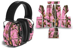 Sticker Wrap Decal Fits: Howard Leightning L3 Ear Shooting Muffs PINK CAMO $19.95