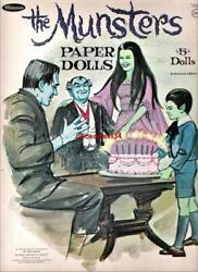 VINTAGE UNCUT 1966 THE MUNSTERS PAPER DOLLS #1 REPRODUCTION NOSTALGIC AND RARE $17.50
