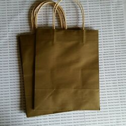 35 Solid Gold Gift Kraft Bags 7.75quot; x 4.75quot; x 9.75quot; Any Occasion $20.00