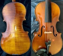 FINE 44 OLD ANTIQUE BOHEMIAM VIOLIN Label: Jindrich ZAZVONIL FLAMED MAPLE c1910
